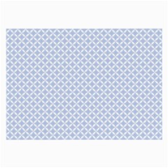 Alice Blue Quatrefoil in an English Country Garden Large Glasses Cloth