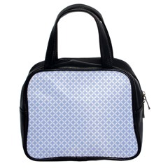 Alice Blue Quatrefoil in an English Country Garden Classic Handbags (2 Sides)