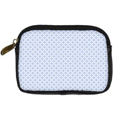 Alice Blue Quatrefoil in an English Country Garden Digital Camera Cases