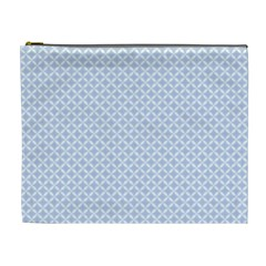 Alice Blue Quatrefoil in an English Country Garden Cosmetic Bag (XL)