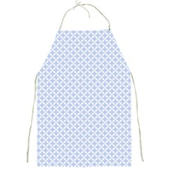 Alice Blue Quatrefoil in an English Country Garden Full Print Aprons