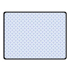 Alice Blue Quatrefoil in an English Country Garden Fleece Blanket (Small)