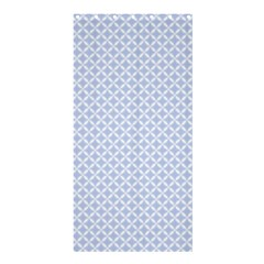 Alice Blue Quatrefoil in an English Country Garden Shower Curtain 36  x 72  (Stall)