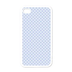 Alice Blue Quatrefoil in an English Country Garden Apple iPhone 4 Case (White)