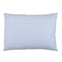 Alice Blue Quatrefoil in an English Country Garden Pillow Case (Two Sides)