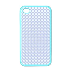 Alice Blue Quatrefoil in an English Country Garden Apple iPhone 4 Case (Color)