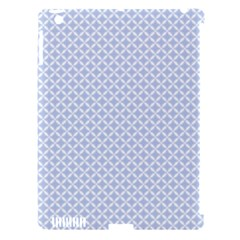 Alice Blue Quatrefoil in an English Country Garden Apple iPad 3/4 Hardshell Case (Compatible with Smart Cover)