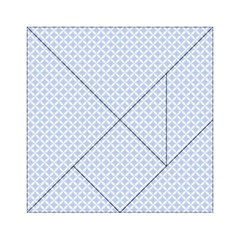 Alice Blue Quatrefoil in an English Country Garden Acrylic Tangram Puzzle (6  x 6 )