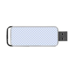 Alice Blue Quatrefoil in an English Country Garden Portable USB Flash (Two Sides)