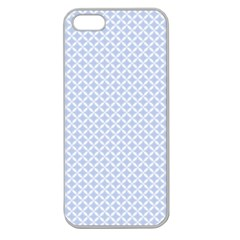 Alice Blue Quatrefoil in an English Country Garden Apple Seamless iPhone 5 Case (Clear)