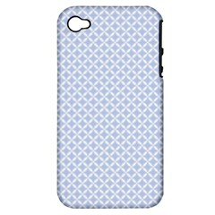 Alice Blue Quatrefoil in an English Country Garden Apple iPhone 4/4S Hardshell Case (PC+Silicone)