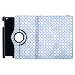 Alice Blue Quatrefoil in an English Country Garden Apple iPad 3/4 Flip 360 Case