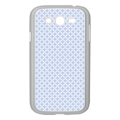 Alice Blue Quatrefoil in an English Country Garden Samsung Galaxy Grand DUOS I9082 Case (White)