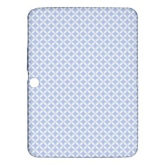 Alice Blue Quatrefoil in an English Country Garden Samsung Galaxy Tab 3 (10.1 ) P5200 Hardshell Case