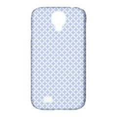 Alice Blue Quatrefoil in an English Country Garden Samsung Galaxy S4 Classic Hardshell Case (PC+Silicone)