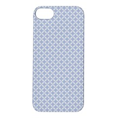 Alice Blue Quatrefoil in an English Country Garden Apple iPhone 5S/ SE Hardshell Case