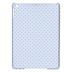 Alice Blue Quatrefoil in an English Country Garden iPad Air Hardshell Cases