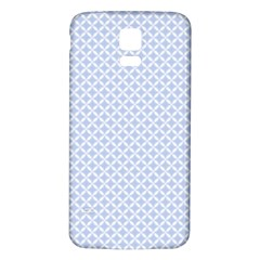 Alice Blue Quatrefoil in an English Country Garden Samsung Galaxy S5 Back Case (White)