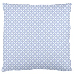 Alice Blue Quatrefoil In An English Country Garden Standard Flano Cushion Case (one Side)