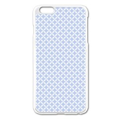 Alice Blue Quatrefoil in an English Country Garden Apple iPhone 6 Plus/6S Plus Enamel White Case