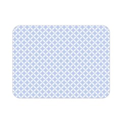 Alice Blue Quatrefoil in an English Country Garden Double Sided Flano Blanket (Mini)