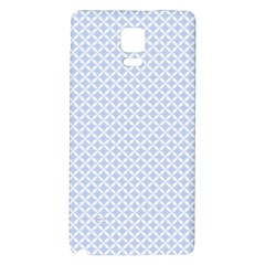 Alice Blue Quatrefoil in an English Country Garden Galaxy Note 4 Back Case