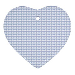 Alice Blue Hearts in an English Country Garden Ornament (Heart)