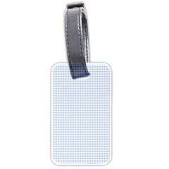 Alice Blue Hearts in an English Country Garden Luggage Tags (Two Sides)