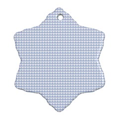 Alice Blue Hearts in an English Country Garden Snowflake Ornament (Two Sides)