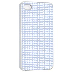 Alice Blue Hearts in an English Country Garden Apple iPhone 4/4s Seamless Case (White)