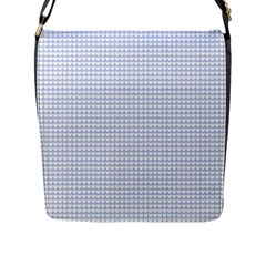Alice Blue Hearts in an English Country Garden Flap Messenger Bag (L)