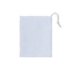 Alice Blue Hearts in an English Country Garden Drawstring Pouches (Small)