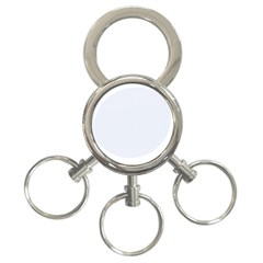 Alice Blue Lattice in an English Country Garden 3-Ring Key Chains
