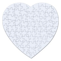 Alice Blue Lattice in an English Country Garden Jigsaw Puzzle (Heart)