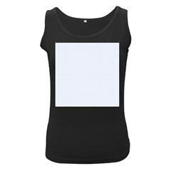 Alice Blue Lattice in an English Country Garden Women s Black Tank Top