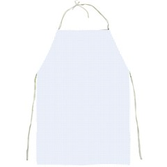 Alice Blue Lattice in an English Country Garden Full Print Aprons