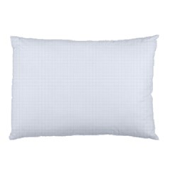 Alice Blue Lattice in an English Country Garden Pillow Case (Two Sides)