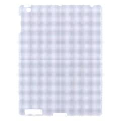 Alice Blue Lattice in an English Country Garden Apple iPad 3/4 Hardshell Case