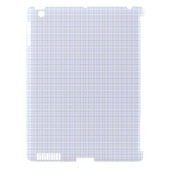Alice Blue Lattice in an English Country Garden Apple iPad 3/4 Hardshell Case (Compatible with Smart Cover)