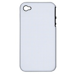 Alice Blue Lattice in an English Country Garden Apple iPhone 4/4S Hardshell Case (PC+Silicone)