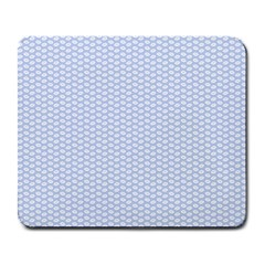 Alice Blue White Kisses in English Country Garden Large Mousepads