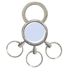 Alice Blue White Kisses In English Country Garden 3 Ring Key Chains