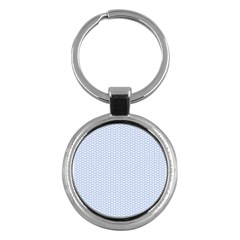 Alice Blue White Kisses in English Country Garden Key Chains (Round)