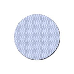 Alice Blue White Kisses in English Country Garden Rubber Round Coaster (4 pack)