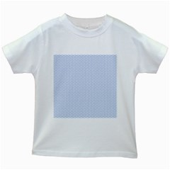 Alice Blue White Kisses in English Country Garden Kids White T-Shirts