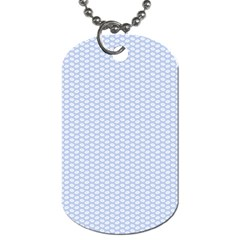 Alice Blue White Kisses in English Country Garden Dog Tag (One Side)
