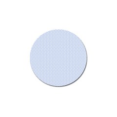 Alice Blue White Kisses in English Country Garden Golf Ball Marker (10 pack)