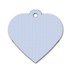 Alice Blue White Kisses in English Country Garden Dog Tag Heart (One Side)