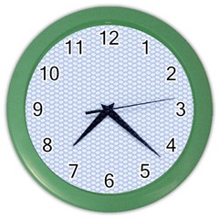 Alice Blue White Kisses in English Country Garden Color Wall Clocks