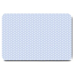 Alice Blue White Kisses in English Country Garden Large Doormat
